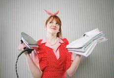 Perfekte Hausfrau Lizenzfreie Stockbilder