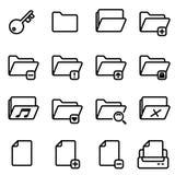 perfekte Linie von Ikonen 16 Pixel eingestellt Stockbilder