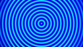 Perfekte nahtlose Gesamtlänge der Schleife 4K Lebhafte Pulsierungskreise oder Radiowellen blau stock video