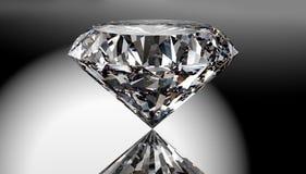 Perfekter Diamant lokalisiert auf glänzendem Hintergrund mit Beschneidungspfad lizenzfreie abbildung