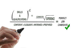 Perfekter Job-Bewerber Lizenzfreie Stockbilder