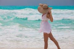 Perfekter Urlaub -在加勒比海放松 库存图片