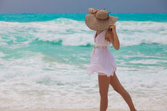 Perfekter Urlaub - Relaksuje w morzu karaibskim obrazy stock