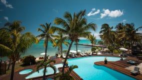 Perfektes Ferienzentrum auf der Insel von Mauritius stockbild
