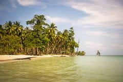 Perfektes gebürtiges karibisches Dorf auf haarscharfer Insel lizenzfreie stockbilder