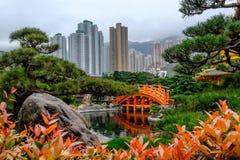 Perfektion för arkitektur för pagodstil kinesisk i Nan Lian Garden, Arkivfoto