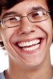 Perfezioni il primo piano di sorriso Fotografia Stock