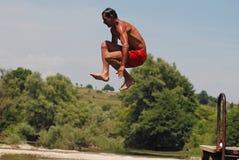 Perfezioni il salto fotografie stock libere da diritti
