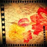 Perfezioni l'impronta di rossetto rosa Siluetta delle labbra rosa su fondo bianco Traccia qualitativa di struttura reale del ross fotografia stock