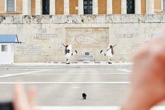 Perfezioni la coordinazione dei movimenti durante il cambiamento del Fotografia Stock Libera da Diritti