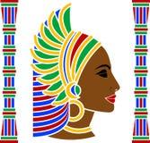Perfil africano da mulher ilustração stock