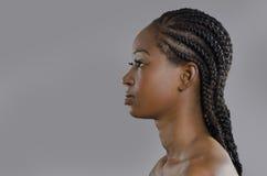 Perfil africano hermoso de la mujer Foto de archivo libre de regalías