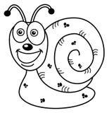 Perfil alegre del caracol para colorear ilustración del vector