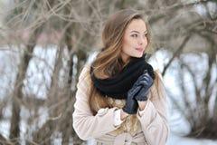 Perfil bonito da mulher - retrato ascendente próximo fotografia de stock royalty free