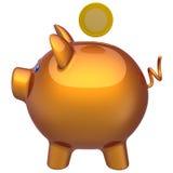 Perfil clássico do banco Piggy (alugueres) Imagens de Stock Royalty Free