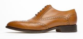 Perfil completo inglés del zapato de Brown de la abarca Fotografía de archivo