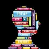 Perfil creativo de las ideas de Internet Foto de archivo