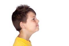 Perfil da criança feliz imagem de stock