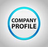 Perfil da empresa em volta da tecla azul ilustração do vetor