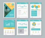 Perfil da empresa, informe anual, folheto, inseto, molde da disposição de página ilustração do vetor