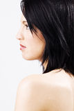Perfil da fêmea nova bonita Foto de Stock Royalty Free