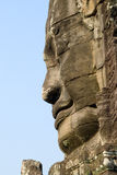 Perfil da face do templo de Bayon fotos de stock
