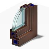 Perfil 2 da janela da fatia Imagem de Stock