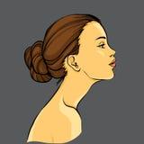 Perfil da mulher elegante ilustração stock