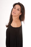 Perfil da mulher no preto Fotografia de Stock