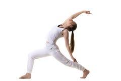 Perfil da pose reversa do guerreiro Imagem de Stock