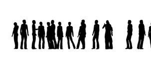 Perfil da silhueta Equipe do negócio Multidão dos povos Serviço da finança Fundo claro ilustração do vetor