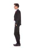 Perfil da vista lateral de um homem de negócio bem vestido Fotografia de Stock