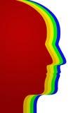 Perfil das cabeças Imagens de Stock