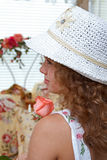 Perfil das meninas Imagem de Stock Royalty Free