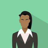 Perfil de African American Ethnic de la empresaria Stock de ilustración