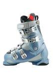 Perfil de alta tecnología de la bota de esquiar en blanco Fotos de archivo libres de regalías