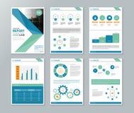 Perfil de compañía, informe anual, folleto, aviador, plantilla del diseño de página stock de ilustración