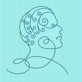 Perfil de la cabeza humana stock de ilustración