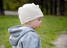 Perfil de la cara del niño Fotografía de archivo