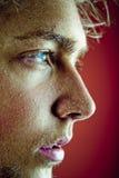 Perfil de la cara del sudor Fotografía de archivo libre de regalías
