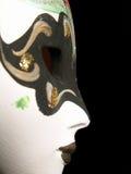 Perfil de la máscara de una mujer Foto de archivo