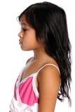 Perfil de la muchacha asiática Foto de archivo