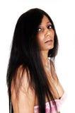 Perfil de la mujer joven. Imagenes de archivo