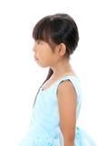 Perfil de la pequeña muchacha asiática Fotos de archivo libres de regalías