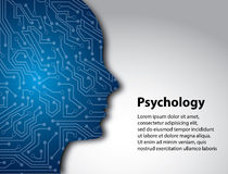 Perfil de la psicología libre illustration