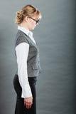 Perfil de la secretaria joven elegante de la empresaria Foto de archivo libre de regalías