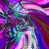 Perfil de la silueta de un hombre en líneas coloreadas stock de ilustración