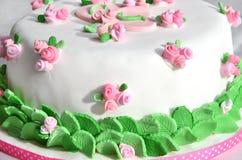 Perfil de la torta de cumpleaños Foto de archivo libre de regalías