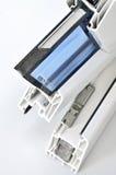Perfil de la ventana del PVC Imagen de archivo