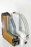 Perfil de la ventana del PVC Fotografía de archivo